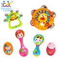 1PC Orff Baby Handbell Shaker Kids Plastic Maracas Rattle Shakers Children Educational Toys Musical Instrument Party Toy Maraca