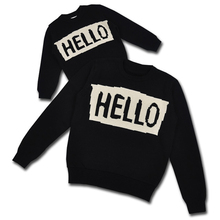 Family Letter HELLO BYE Thickening Sweaters Clothing 0-5Yrs Baby Infant Sweaters Cotton Matching Winter Mommy and Me Outfits