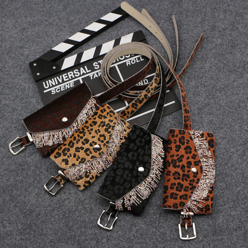 Damentaschen Bauchtaschen Aus Dem Ausland Importiert Luxus Leopard Diamanten Quaste Fanny Pack Für Frauen Taille Tasche Abnehmbare Feine Gürtel Frauen Männer Fanny Pack Weiblichen Fannie Packs Neue
