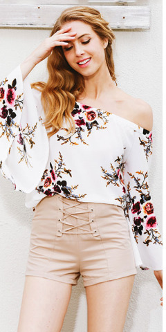 HTB1 9rqPpXXXXaBaXXXq6xXFXXXU - Floral print off shoulder chiffon blouse Women tops halter cool