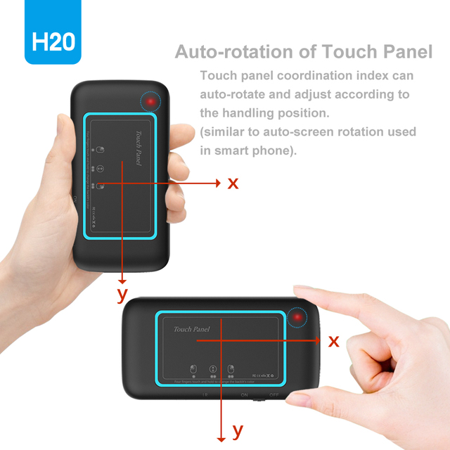 H20 Mini Wireless Keyboard Back light Touch pad Air mouse IR Leaning Remote control For Andorid BOX Smart TV Windows PK H18 Plus 4