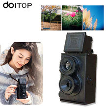 DOITOP DIY Toy Retro Lomo Film Camera Kit Twin Lens Reflex TLR 35mm Classic Retro Film Camera Toy Gift For Children/Friends
