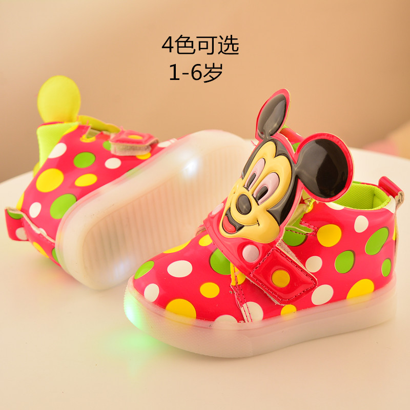 2017 European Fashion Cute LED Lighting Children Shoes Hot Sales Lovely Kids Sneakers High Quality Cool Boy Girls Boots EU 21-30