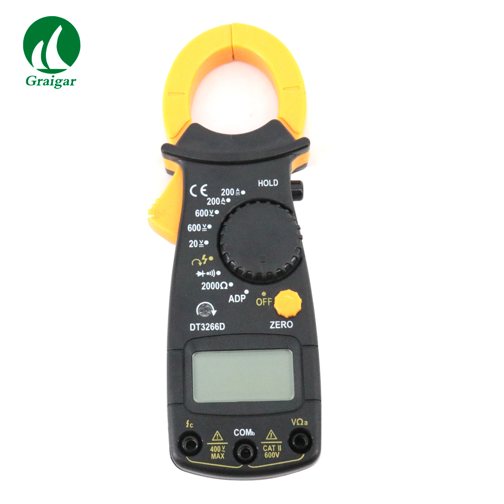 Digital Clamp Meter AC DC Multimeter DT3266D Measuring Voltage Range ACV 600V DCV 20-600VDigital Clamp Meter AC DC Multimeter DT3266D Measuring Voltage Range ACV 600V DCV 20-600V