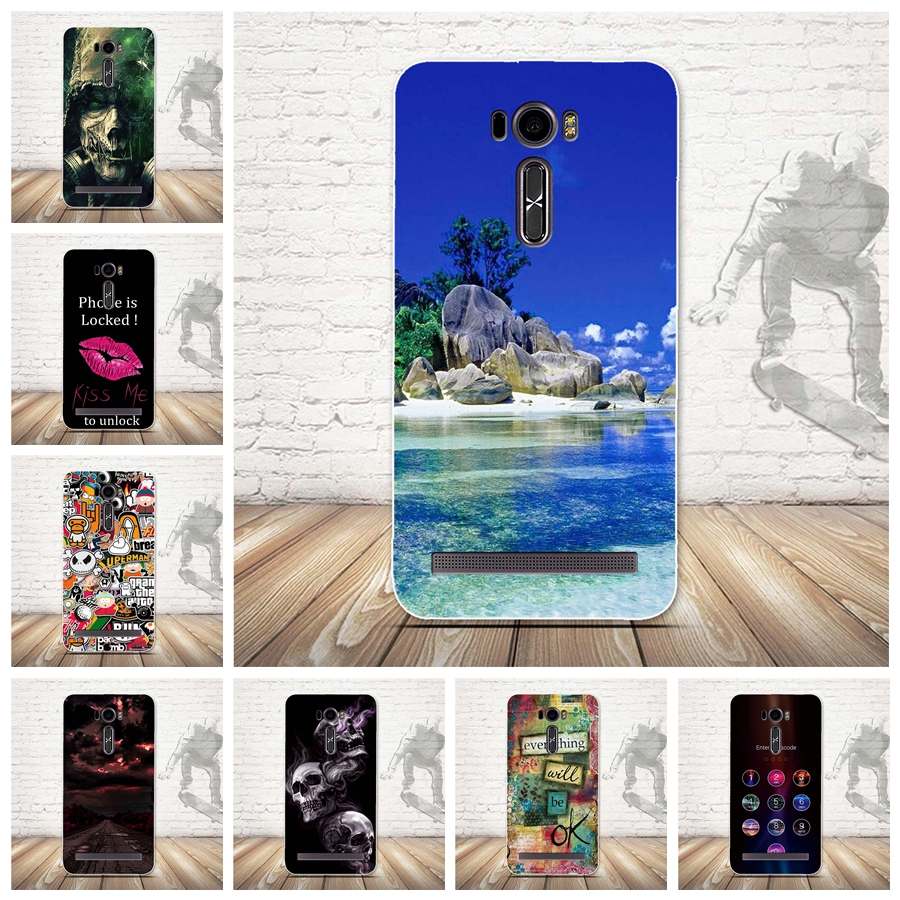 Luxury Painting Case For Asus Ze601kl Phone Cases Soft Silicon Back Cover Zenfone 2 Laser Ze600kl Tpu Bag