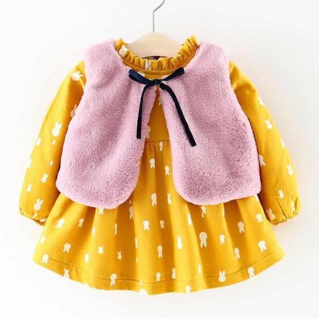 836582539 Fall Winter Dress Brand 2018 New Baby Girls Clothes Long sleeved ...