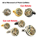 Easter gift 2016 jewelry High Quality Watch Movement cuff bottons Business Cuff links Classic Shirt Cufflinks Free shipping