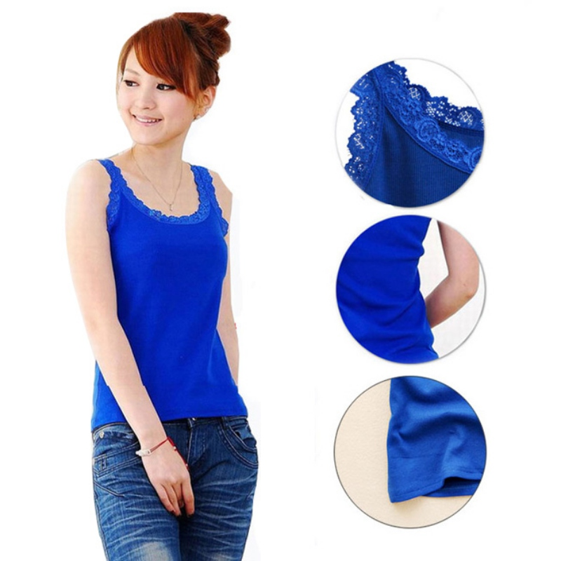 Hot 2020 Summer Style Sexy Sleeveless Tank Tops Women's Lace Vest Blouse Slim Top Crop Tops