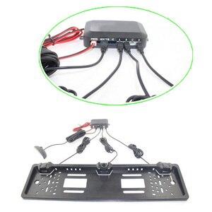 Image 5 - משלוח Funching רכב היפוך רדאר עם 3 חיישנים LED ראיית לילה היפוך חניה חיישן עמיד למים ניטור גלאי