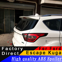 High quality ABS material spoiler For Ford Escape Kuga 2013 to 2017 rear primer DIY any color