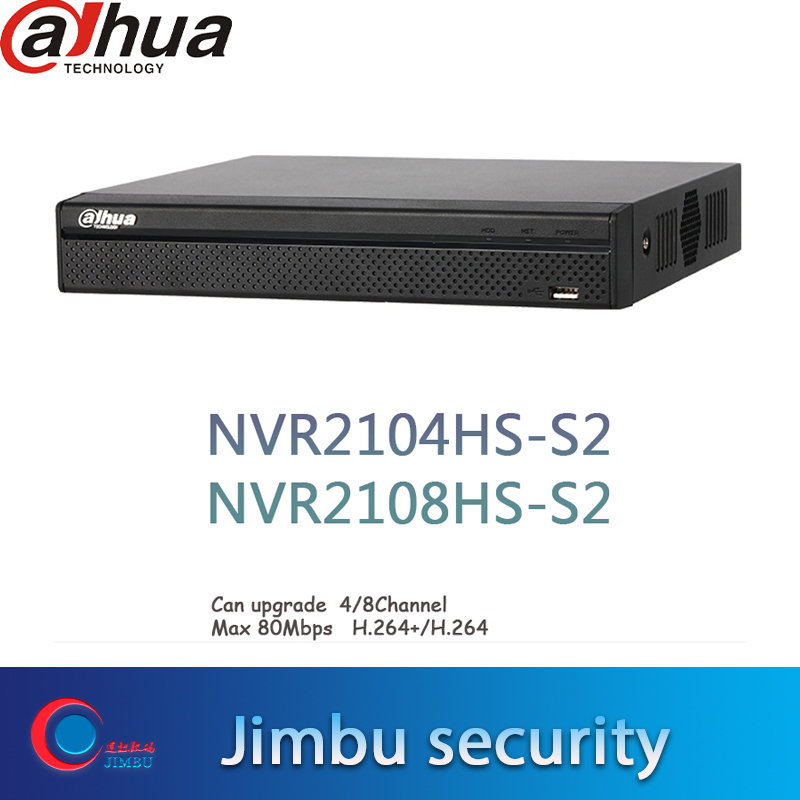 DAHUA 2104HS S2 NVR2108HS S2 4CH 8CH Compact 1U Lite Network NVR intelligent Video recorder up