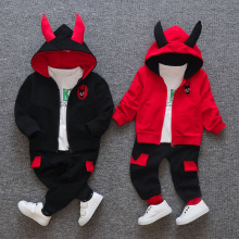 New Little Devil Sport Wear For Girls Children's Clothing Sets Baby Hoodies Girls Clothes Autumn Sports Suit Kids Sweatshirts