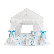 Princess Home For Dog Luxury Winter Summer Pet Court Kennel House With Cushion Bed Mats For Puppies Animal Yorkshire BeddingS