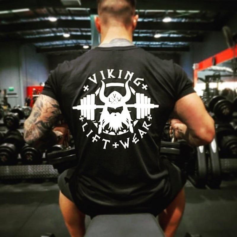 VIKING Gyms T shirt Crossfit Brand Clothing Fitness T-shirt compression Short Sleeve Tshirt Bodybuilding Workout Tee-shirt Plus 1