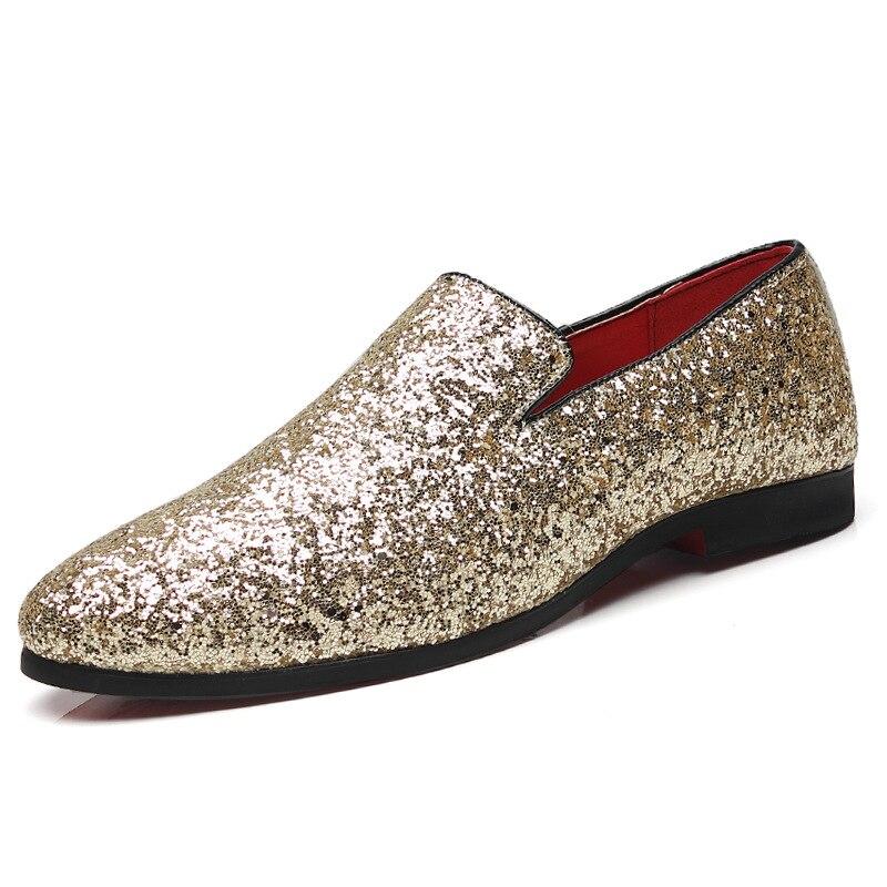 38 Mocassins Black Nous silver Sur 47 Respirant Main En Mode Slip Hommes gold De La Conduite À Taille Chaussures Casual Pl; Cuir Véritable REwxx