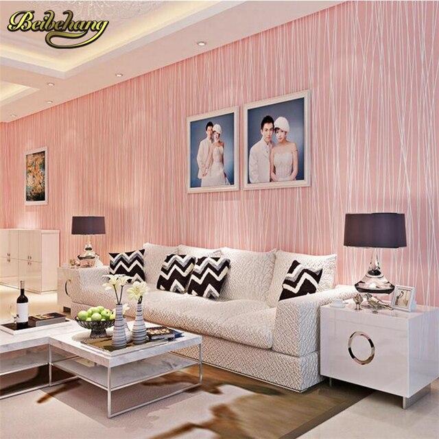 beibehang papel de parede. Modern wallpaper stripe non woven wall ...