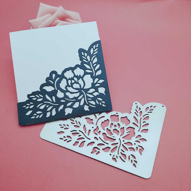 2019 new Flower Rose Lace wedding invitation card Cutting Dies Stencils for DIY Scrapbooking/photo album Decorative Paper Cards