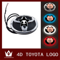 Night Lord For Toyota Auto 4D Emblem Light Lamp 4D Led Front Rear 4D Badge Sticker