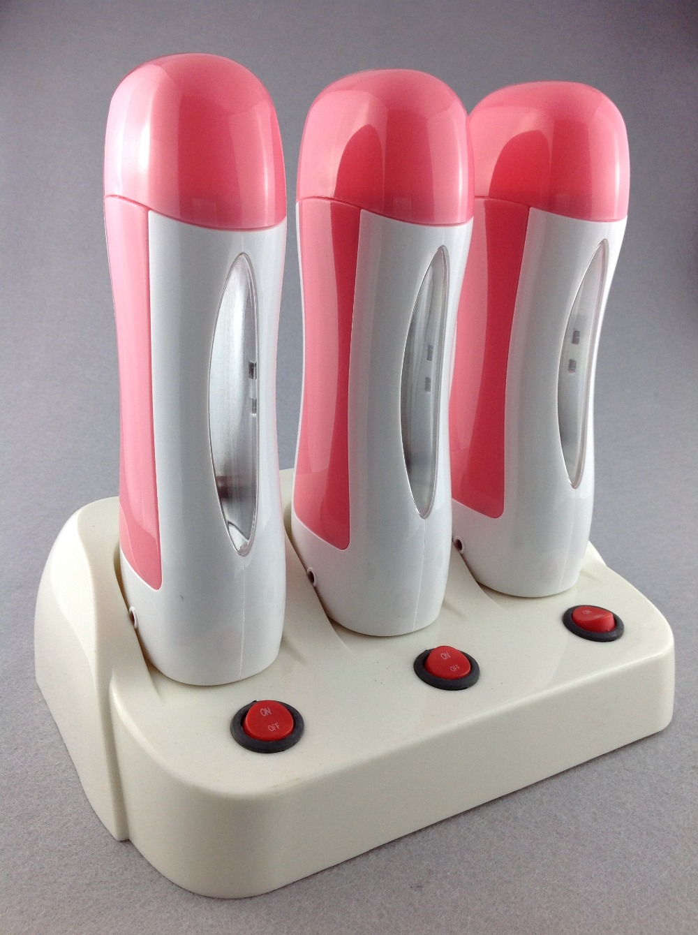 Wax Heater Set Two Seats 110 220 240V Depilation Wax High Quality Epilator Hair Removal Strawberry And Rose Wax Strips 100 in Epilators from Home Appliances
