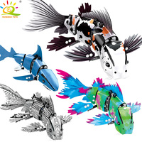 342Pcs Simulated Moving Fish model Building Blocks Compatible legoingly Technic animal city bricks Educational Toys for children