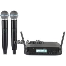 Новый Высокое качество Профессиональный GLXD4 двойной Беспроводной микрофон Системы спектакли два беспроводной микрофон