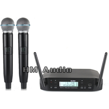 New Excessive High quality Skilled GLXD4 Twin Wi-fi Microphone System stage performances a two wi-fi microphone