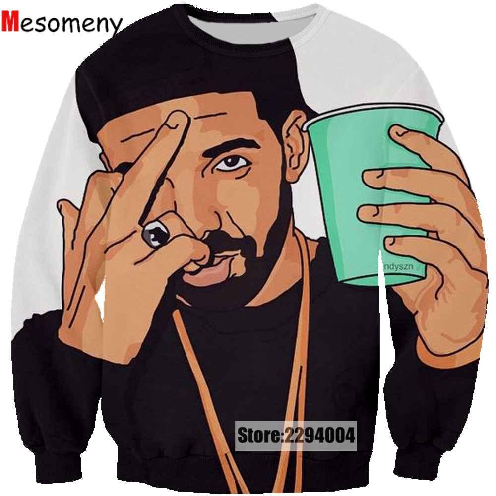 Mesomeny New Design Hoodies Men Women Sweatshirt 3D Print 2pac Tupac Sweatshirt Cool Long Sleeve Crew Neck Brand Clothing R3382