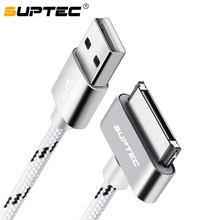 Suptec cabo usb de 30 pinos, cabo usb para iphone 4S, 4, 3gs, ipad 1, 2, 3, ipod, nano itouch, 2m, 3 cabo adaptador para carregamento, cabo adaptador para sincronização de dados