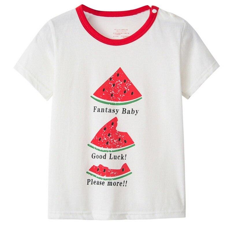 Children Kids Cartoon T-Shirt Cotton Toddler Fashion T-Shirt Round Neck Short Sleeve(China)