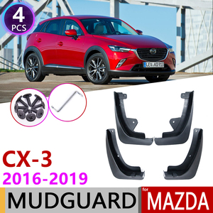 Front Rear Mudflap for Mazda CX-3 2016~2019 CX3 CX 3 Fender Mudguard Mud Flaps Guard Splash Flap Mudguards Accessories 2017 2018(China)