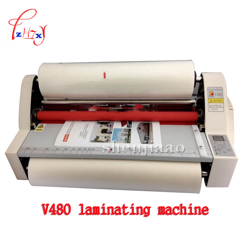 цена на 17.5 V480 paper laminating machine,students card,worker card,office file laminator.Guaranteed photo A3 paper laminator 1pc