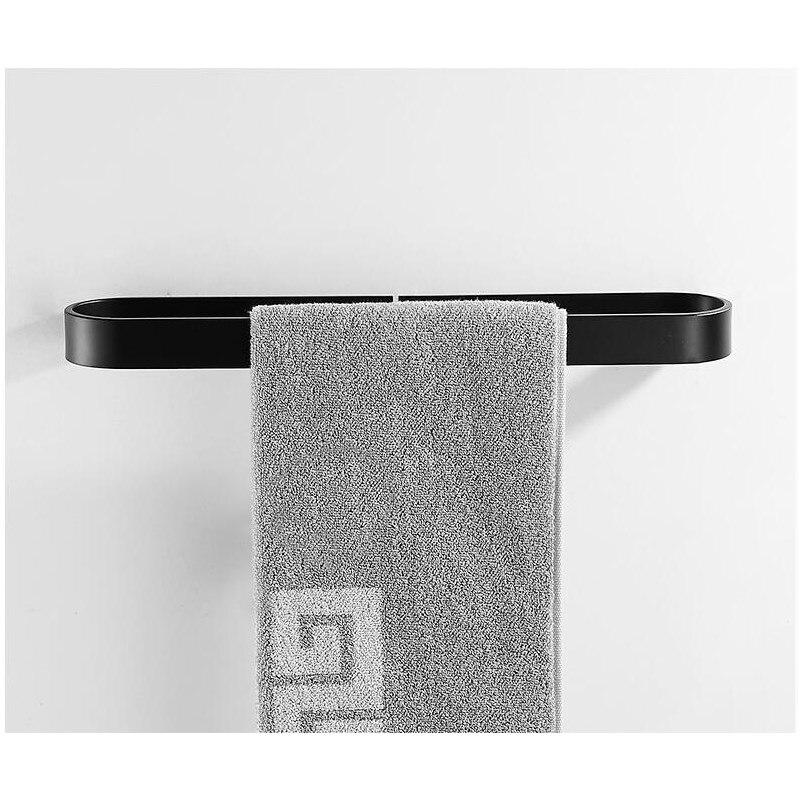 Towel Ring Aluminum Black Or White Toilet Towel Hanger