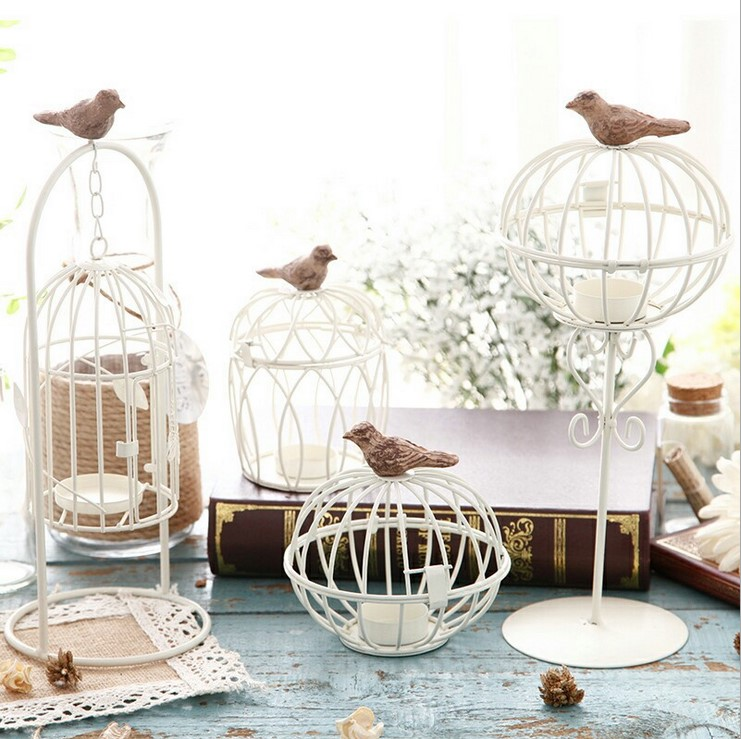 European style village mediterranean style bird cage for Bird home decor
