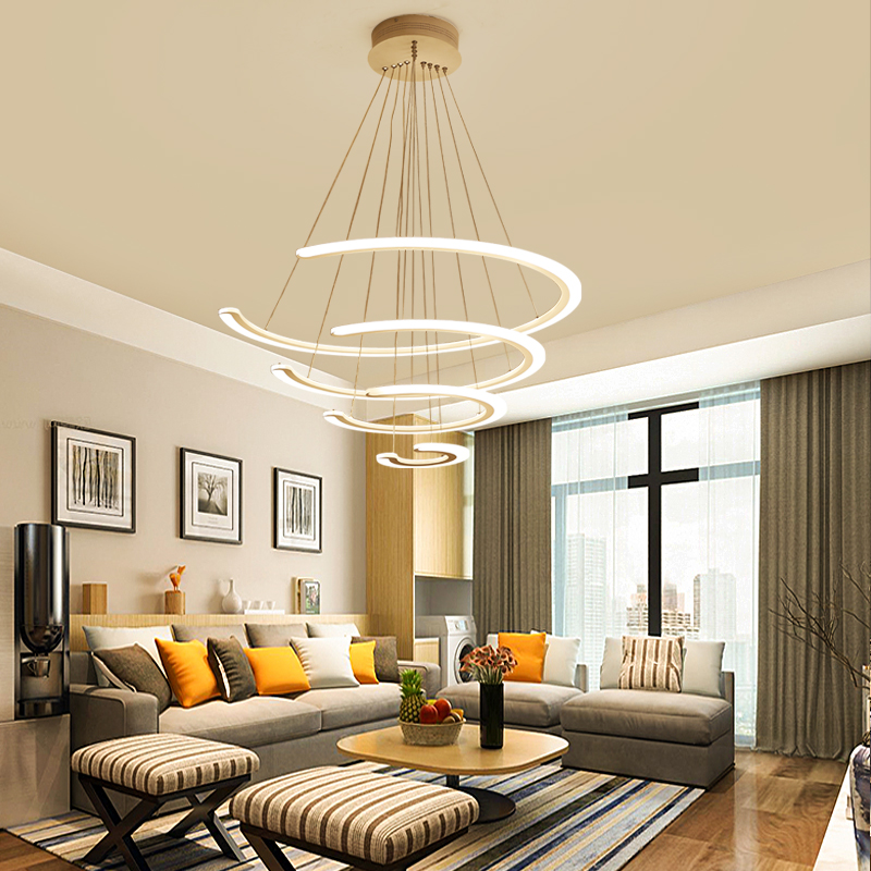 New Modern led pendant lights for living room dining room 4/3/2/1 Circle Rings acrylic lustre pendent led ceiling Lamp fixtures dragonscence new modern led chandelier lights for living room dining room 4 3 2 1 circle rings acrylic ceiling lamp fixtures