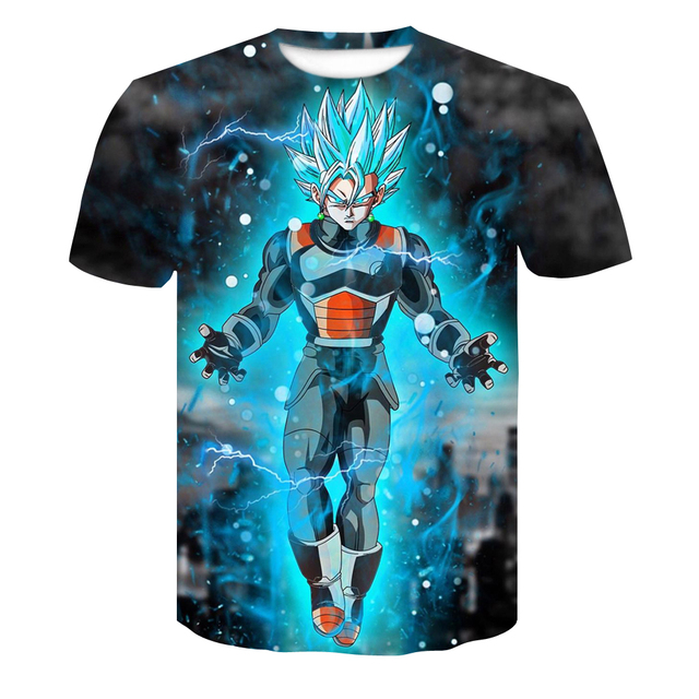 Dragon Ball Z T Shirts Mens Summer Fashion 3D Print Super Saiyajin Son Goku Black Zamasu Vegeta Dragon T-shirt Tops