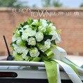 Крем Белая Роза Искусственный Цветок Свадебные Букеты Ручной Работы, Декоративные Невеста Холдинг Цветок Невесты Свадебные Букеты 2017 Новый
