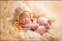 Baby Floral Hat and Pants Baby Clothing Set Newborn Pants Photography Props
