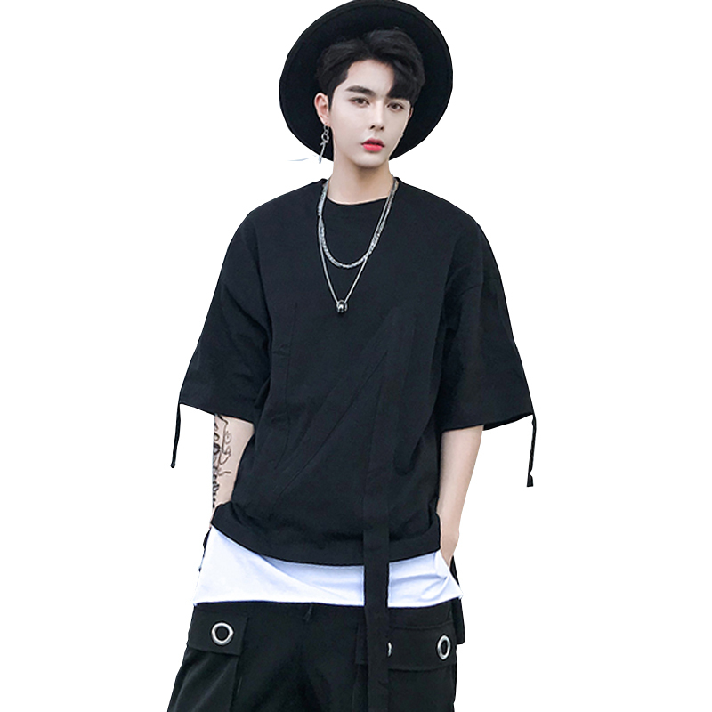 2018 Dark Original Weave Bring Decoration OVERSIZE Bat Sleeve T Pity The Night Wind black casual Fashion Free shipping Favourite