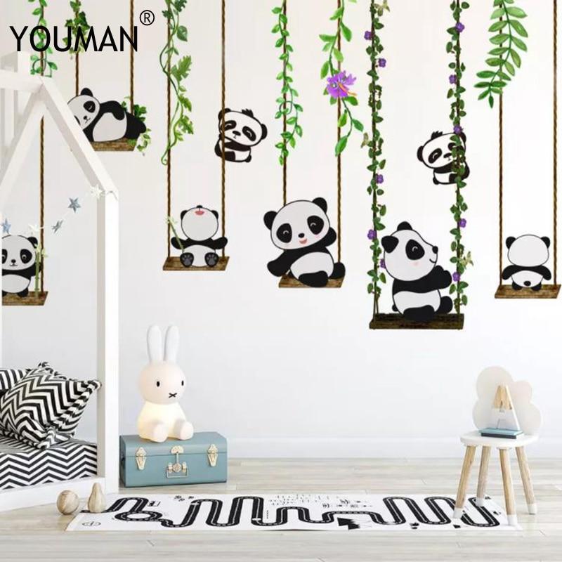 Custom 3d Muurschildering Behang Non-woven Kinderen Kamer Behangen Wall Paper 3d Stereo China Panda Kid Foto Behang Home Decor Ongelijke Prestaties