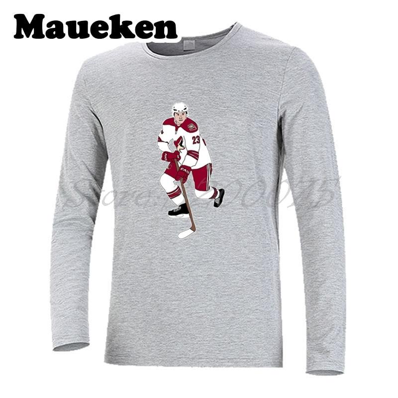 Men Long Sleeve Oliver Ekman-Larsson 23 Arizona T-Shirt Clothes coyotes T Shirt Mens Autumn Winter W17102705