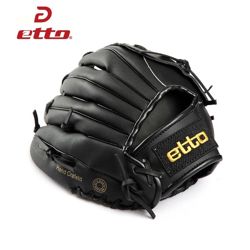 Prix pour Etto Haute Qualité Pu En Cuir Baseball Gant De La Main Gauche 11.5/12.5 Pouce Baseball Softball Formation Gants Guantes Beisbol HOB008Z
