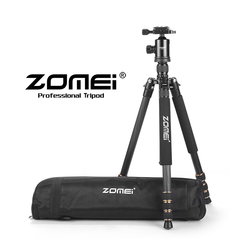 ZOMEI Z668C Professional Stable Carbon Fiber Portable Travel Tripod Stativ Tripode Monopod Ball Head for DSLR SLR Camera