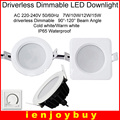 Round/Square Waterproof IP65 AC220-265V 7W/9W/12W/15W LED down light high quality SMD 5630/5730 LED downlight Free shipping