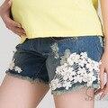 Jeans de mezclilla de maternidad cortos cortos de verano para mujeres embarazadas gestantes ropa ropa embarazadas