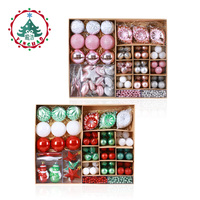 inhoo 2019 New Year 90pcs/set Christmas Tree Decor Ball Ornaments Polystyrene Xmas Party Hanging Ball for Home Decor Accessories