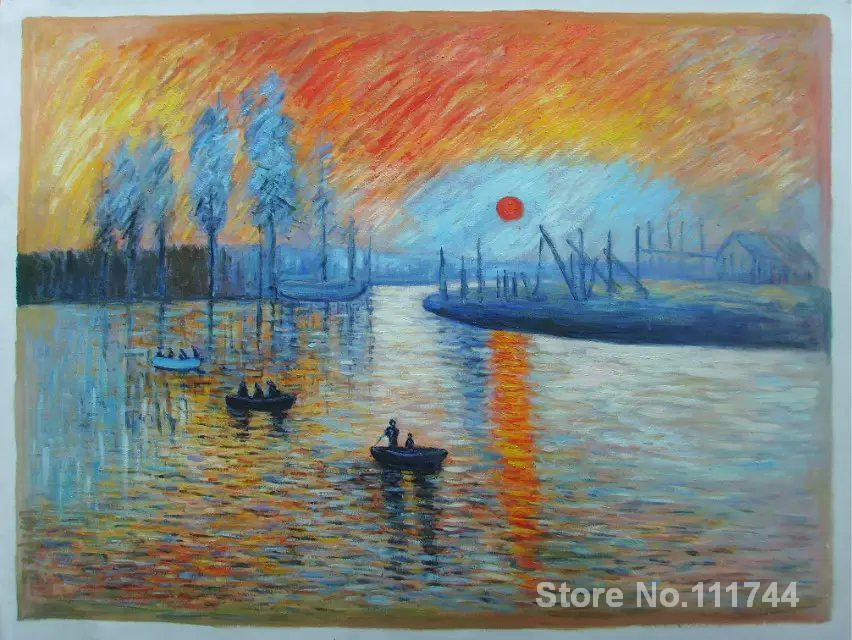 art landscape Sunrise Claude Monet impressionism Handmade