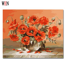 Flower vase Oil Painting By numbers Abstract DIY Hand Painted Digital Picture On Wall Acrylic Coloring Numbers Canvas
