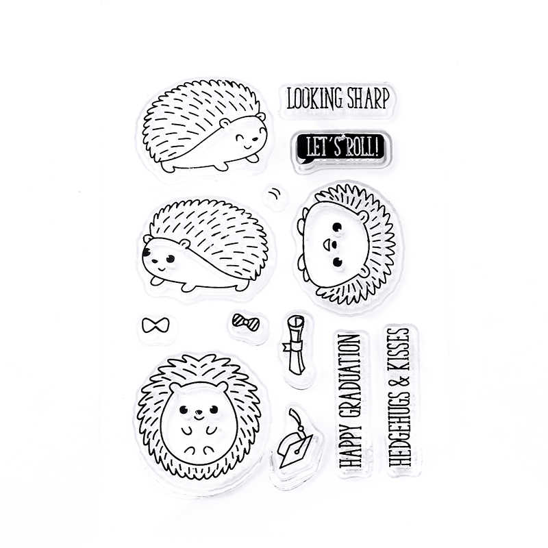 Cat Transparent Silicone Clear Stamp and dies Seal for DIY scrapbooking/photo album Decorative clear stamp sheets