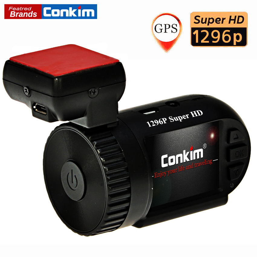 Conkim Mini 0805 1296P Full HD Video Recorder Ambarella A7 Auto Registrar Car DVR With GPS G-Sensor LDWS Car Camcorder H.264 conkim mini 0807 ambarella a7 dash camera 1080p full hd video recorder registrar car dvr gps parking guard record dual tf card