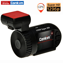 Conkim Mini 0805 1296P Full HD Video Recorder Ambarella A7 Auto Registrar Car DVR With GPS G-Sensor LDWS Car Camcorder H.264